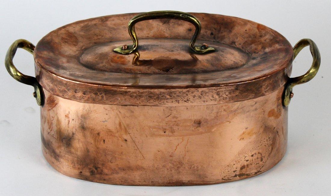 French copper daubiere stew pot