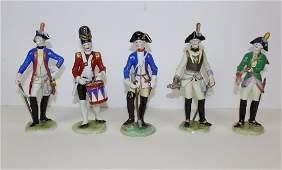 Lot of 5 Volkstedt German porcelain figurines