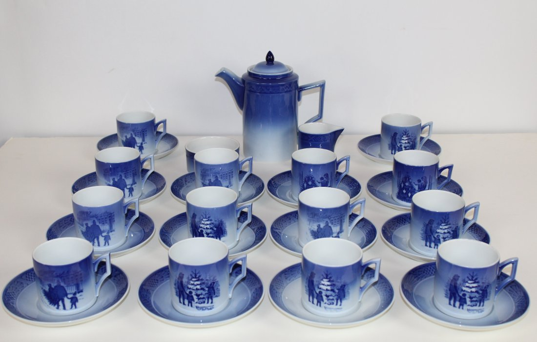 Royal Copenhagen porcelain coffee service