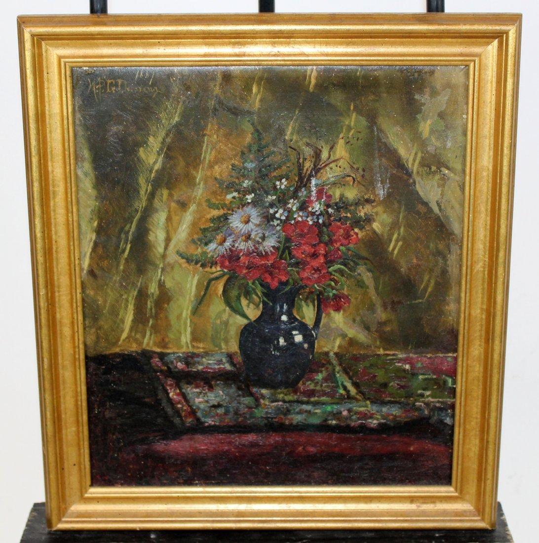 MPG Denereaux oil on canvas floral stillife