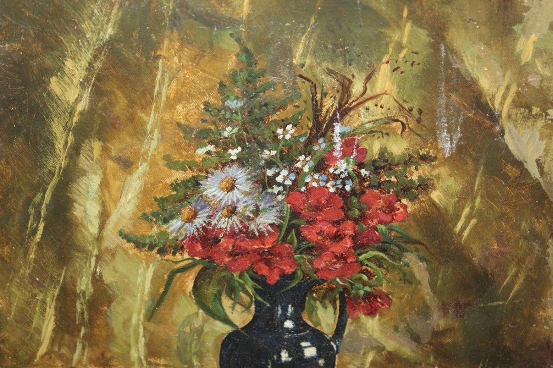 MPG Denereaux oil on canvas floral stillife - 3