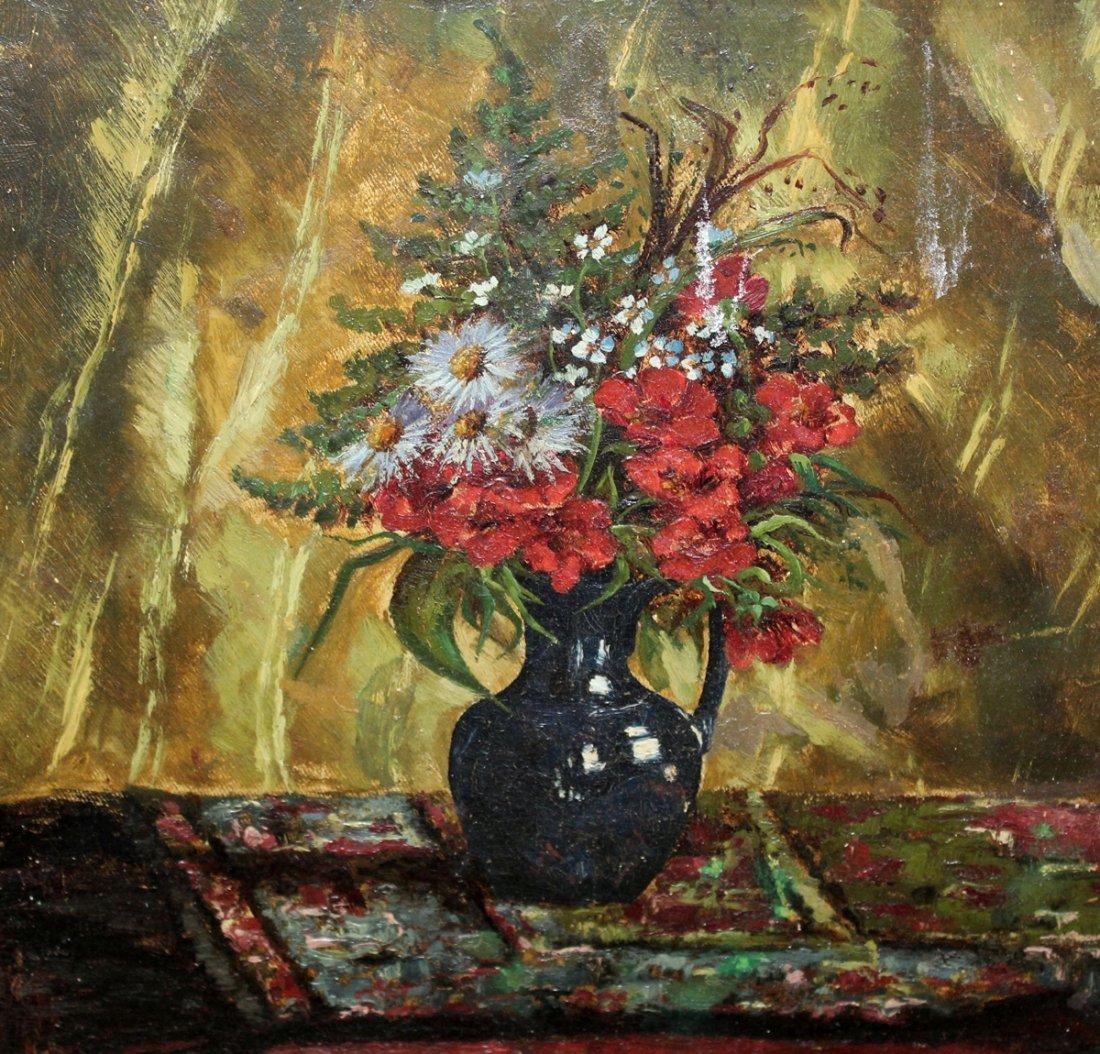 MPG Denereaux oil on canvas floral stillife - 4