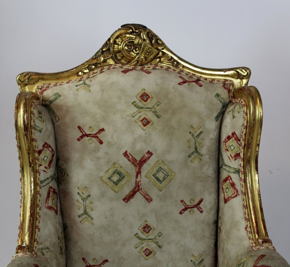Louis XV style gilt painted bergere - 3