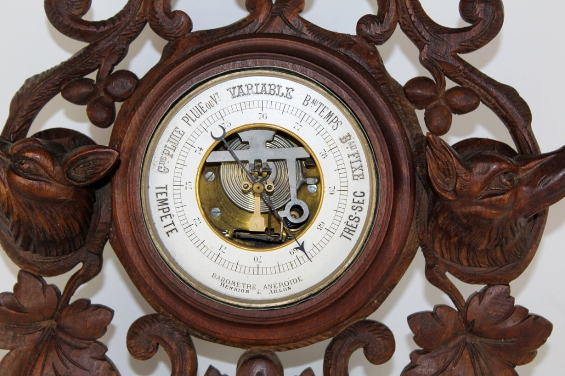 Antique French barometer & thermometer - 2