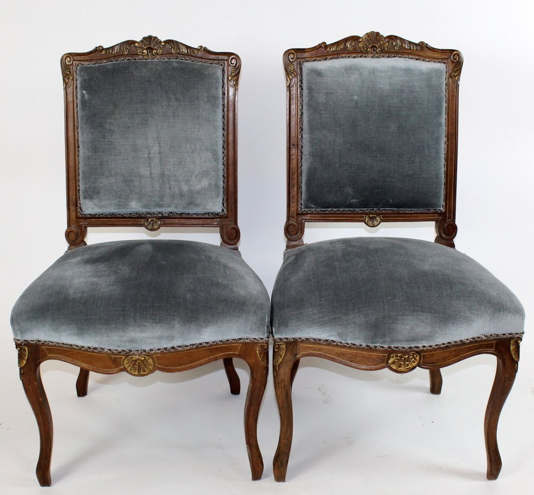 Set of 4 Regency style upholstered chairs - 2