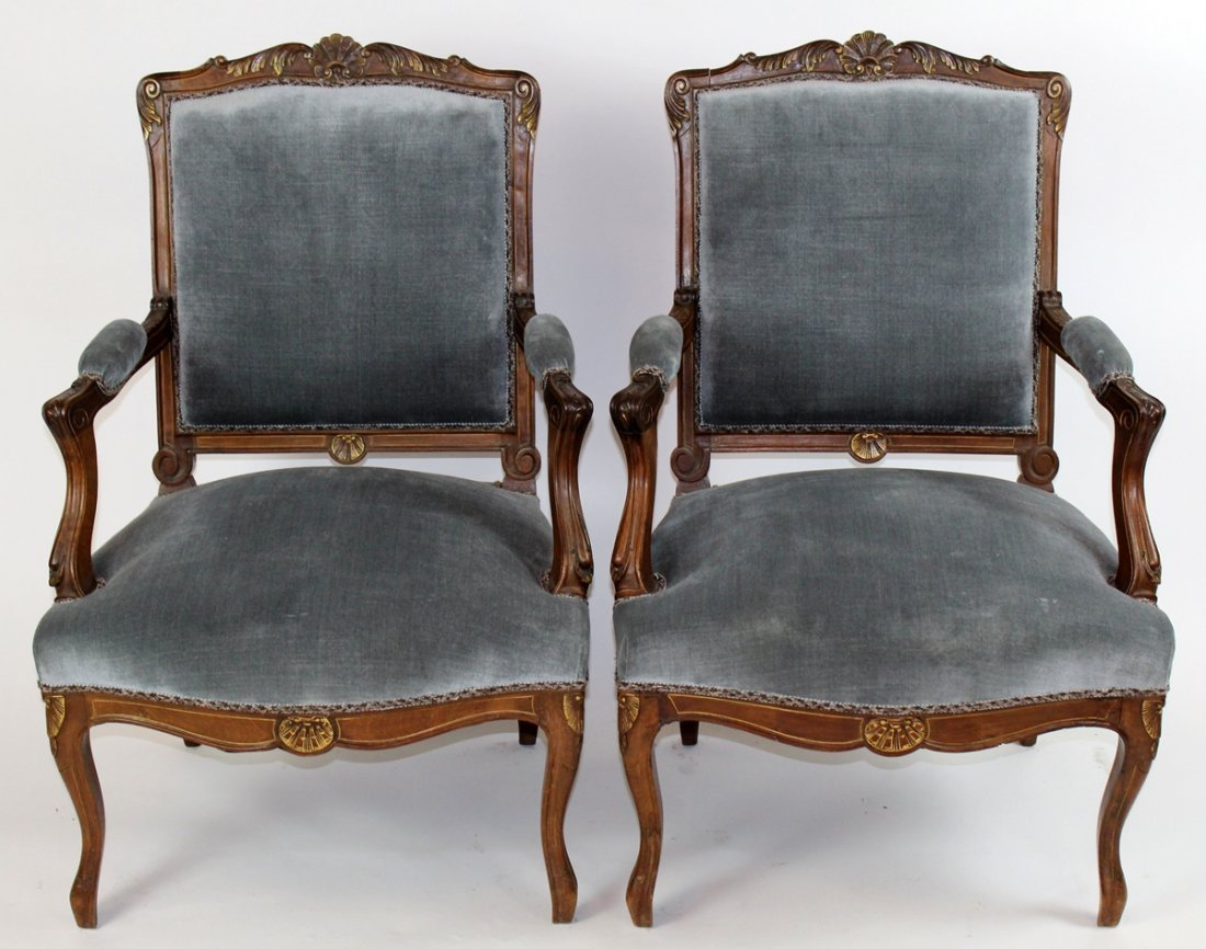 Set of 4 Regency style upholstered chairs - 3