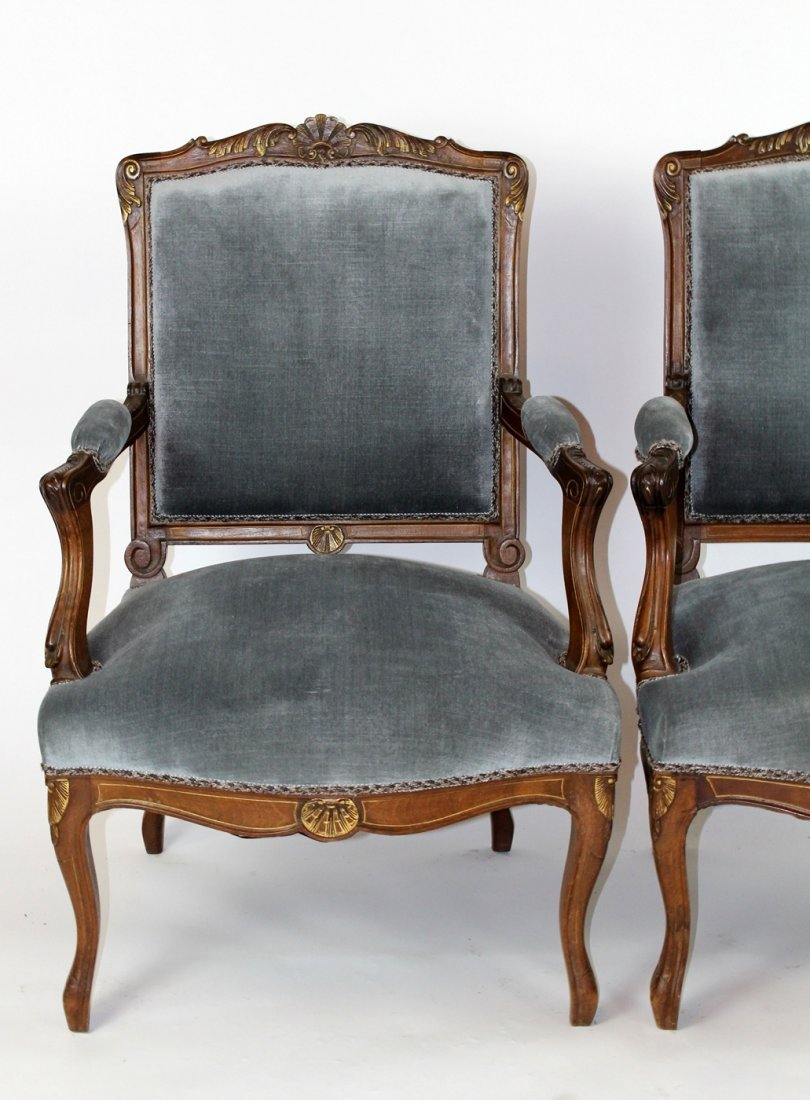 Set of 4 Regency style upholstered chairs - 4