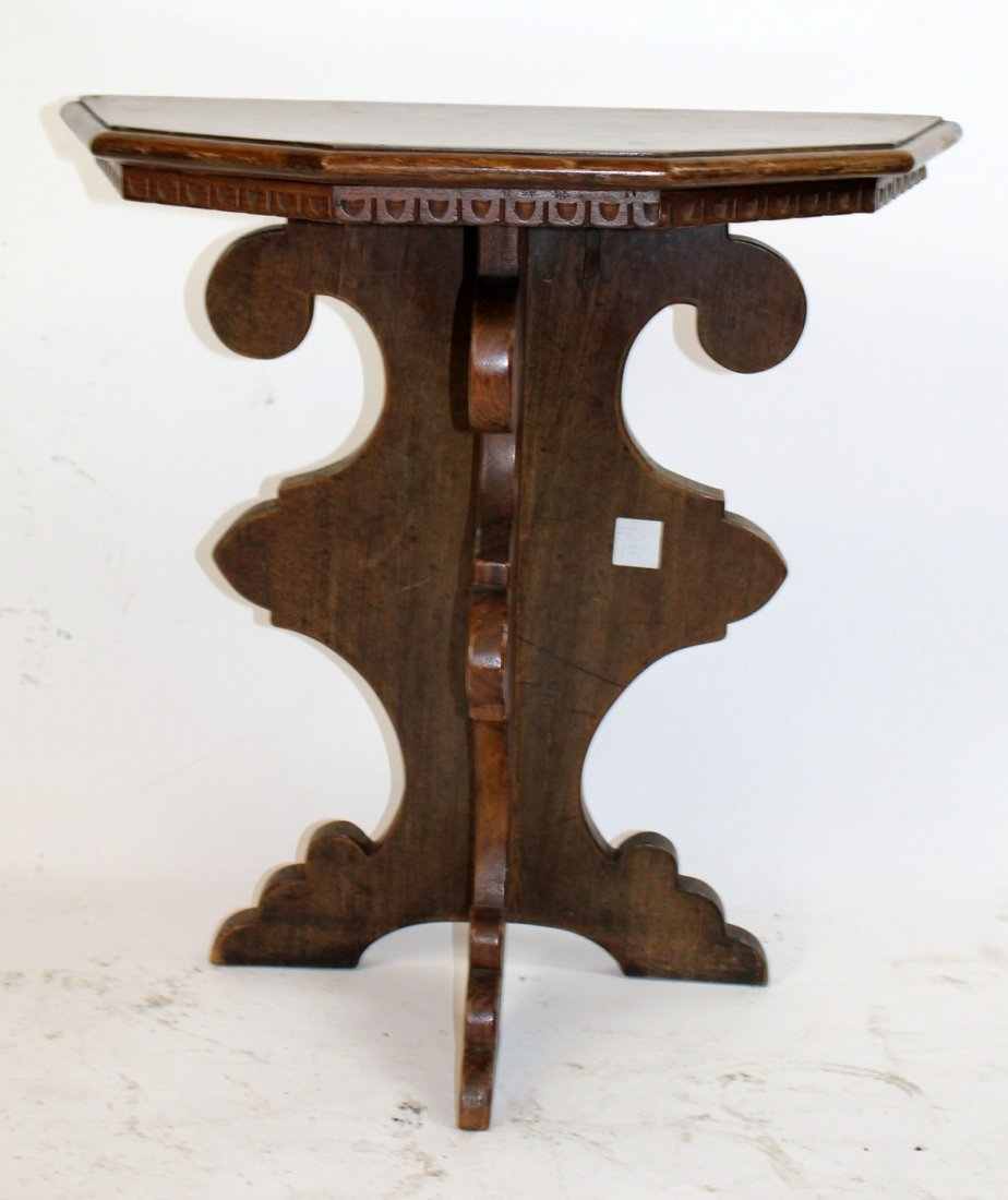 Antique Tuscan side table in walnut
