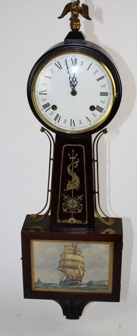 German banjo clock spring 8 day