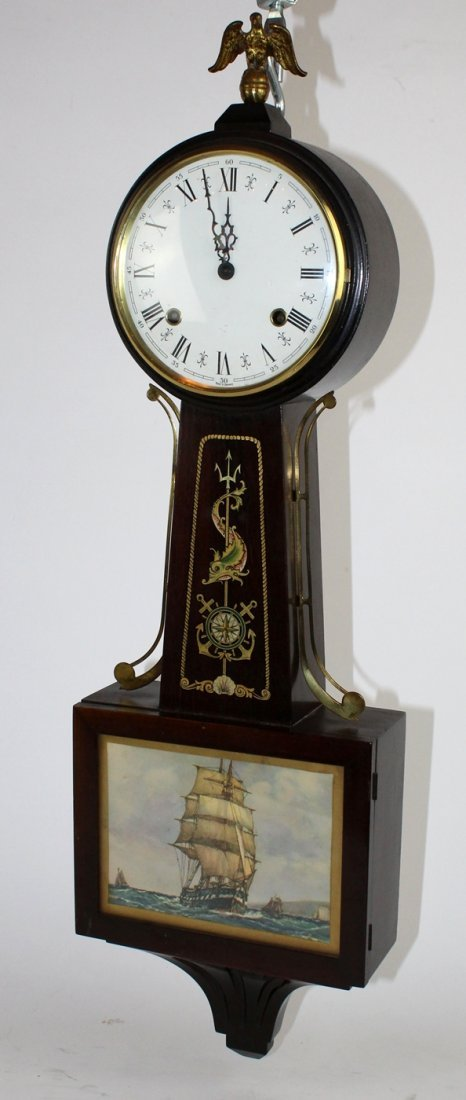 German banjo clock spring 8 day - 2