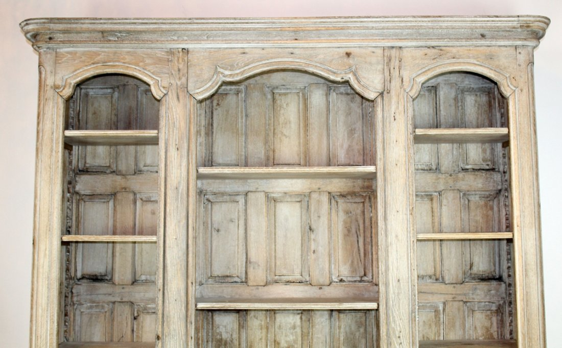 19th c French Provincial bleached oak bookcase - 3