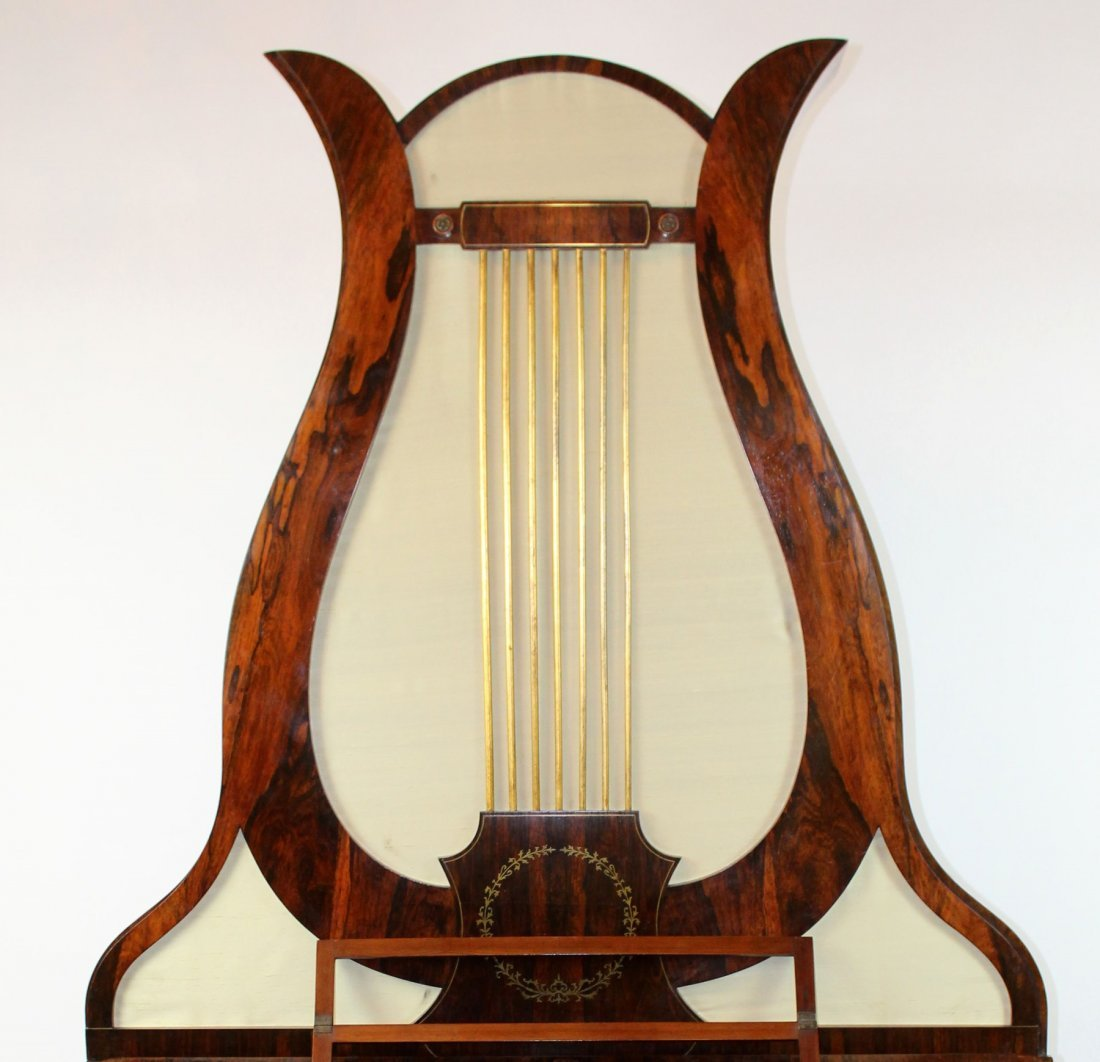 German FA Klein lyre piano in rosewood - 5