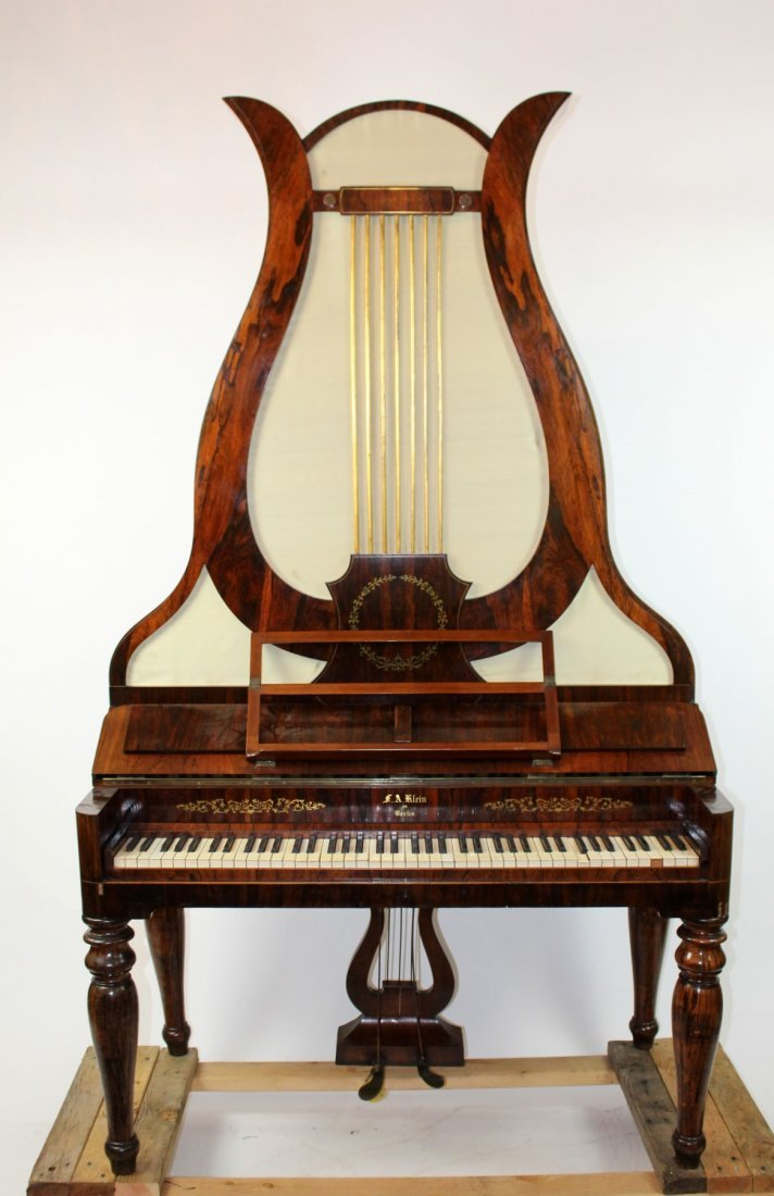 German FA Klein lyre piano in rosewood - 6