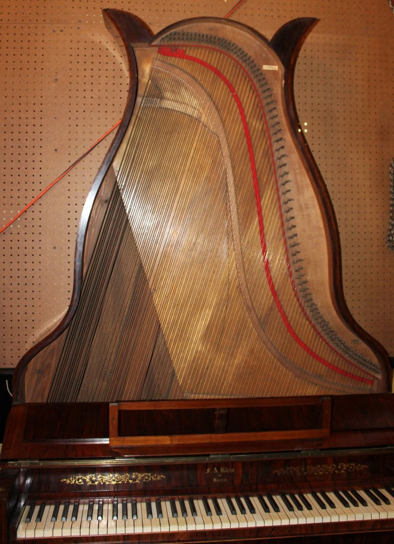 German FA Klein lyre piano in rosewood - 7