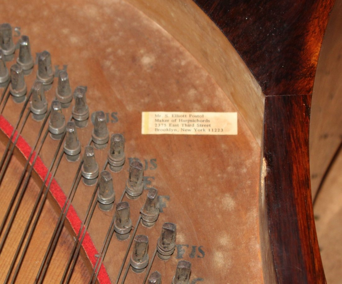 German FA Klein lyre piano in rosewood - 8