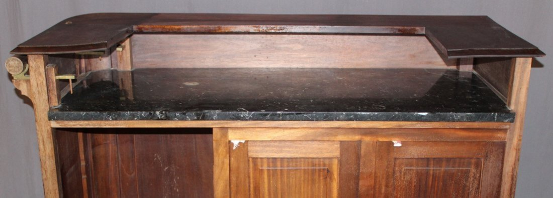 French carved walnut front bar - 4