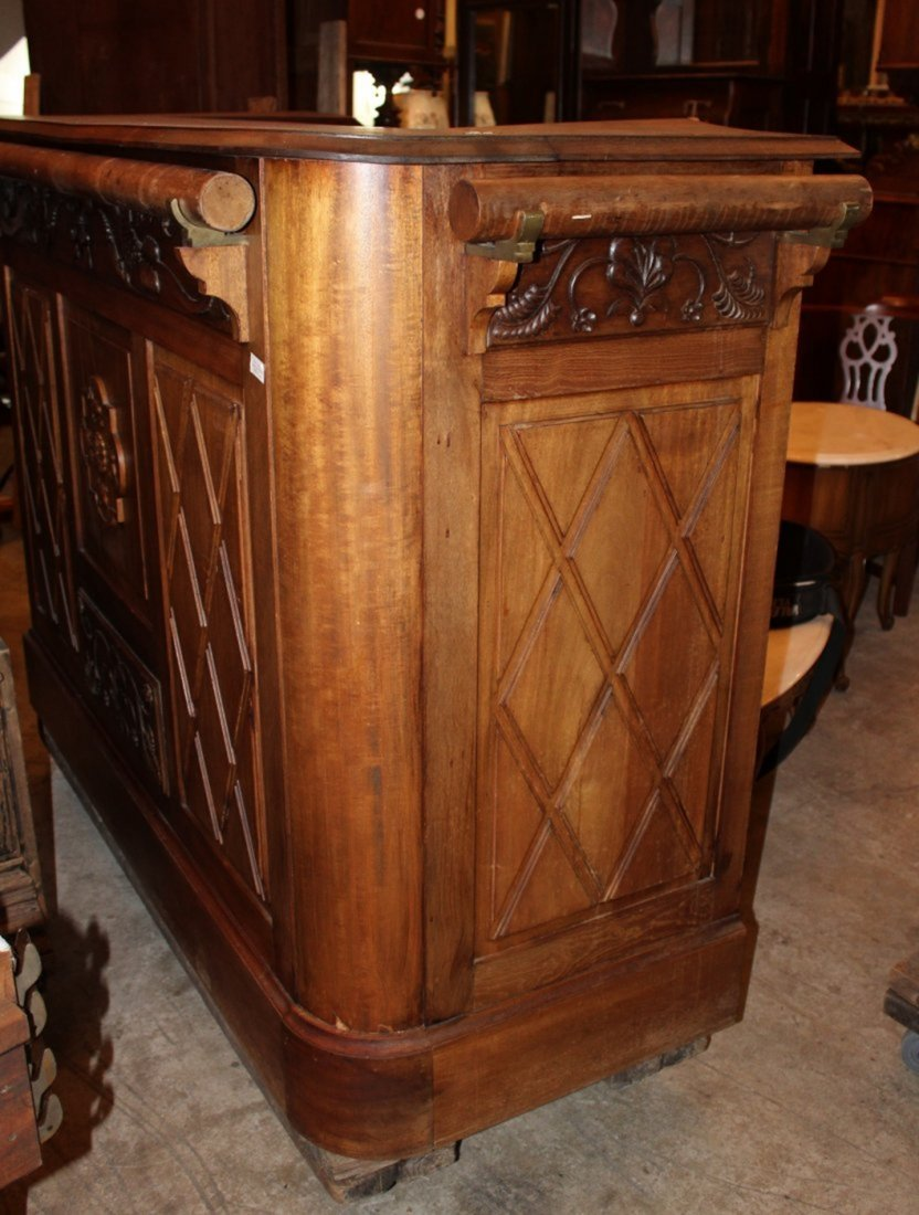 French carved walnut front bar - 6