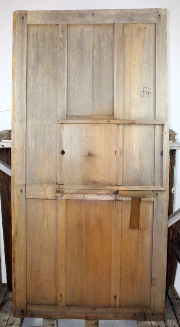 Antique oak confessional door - 4