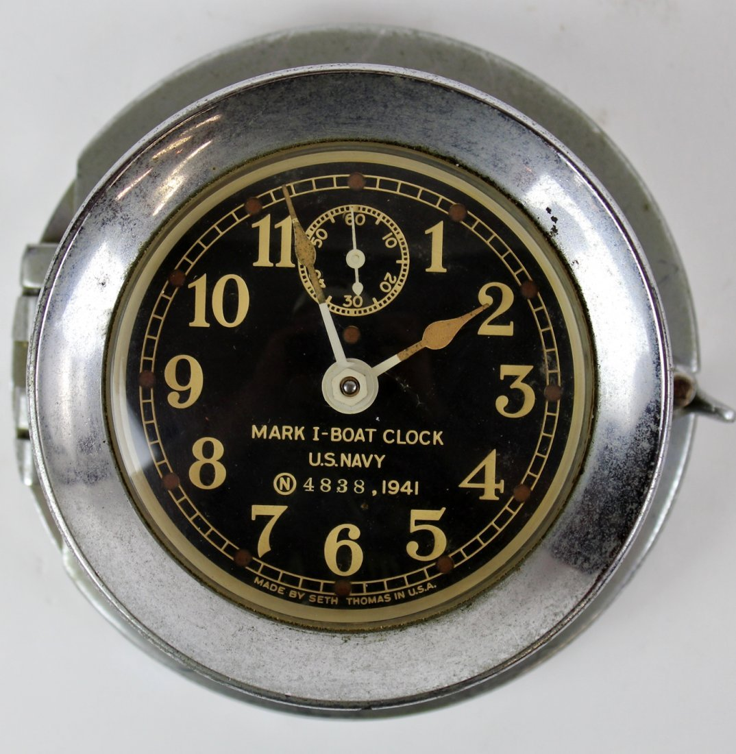 Seth Thomas US Navy Mark 1 boat clock