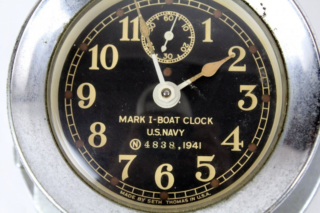 Seth Thomas US Navy Mark 1 boat clock - 2