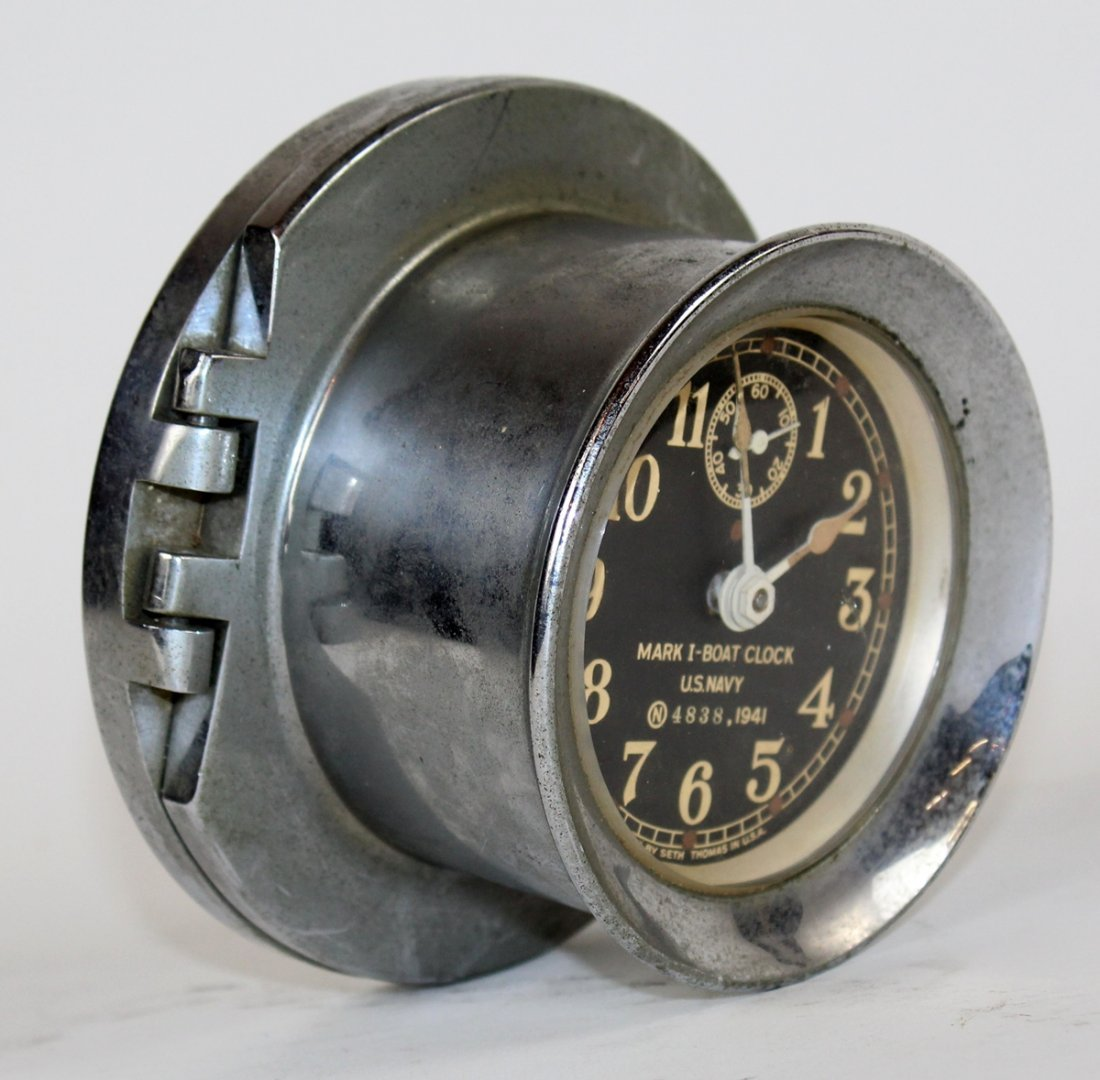 Seth Thomas US Navy Mark 1 boat clock - 3