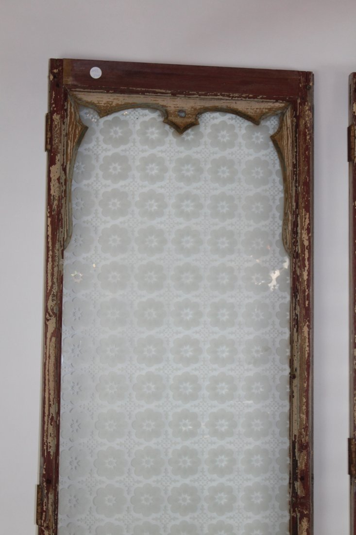 Pair of antique French distressed windows - 2
