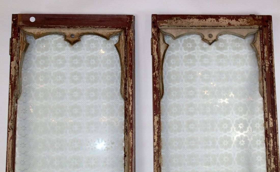 Pair of antique French distressed windows - 3