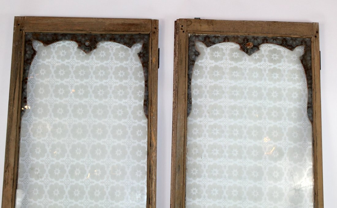 Pair of antique French distressed windows - 5