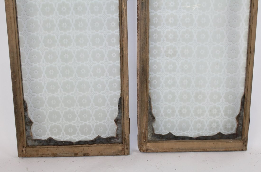 Pair of antique French distressed windows - 6