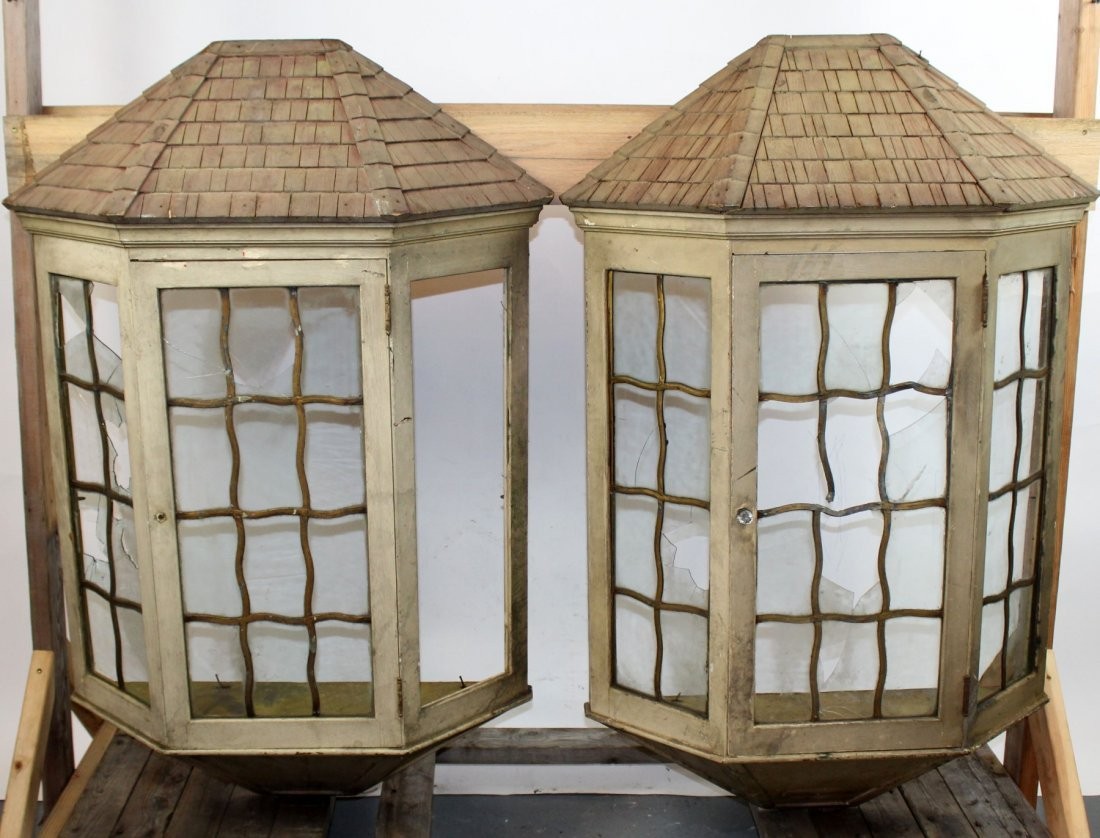 Pair of architectural cottage window boxes