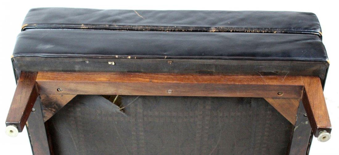 Dunbar Mid-century black leather armchair - 4