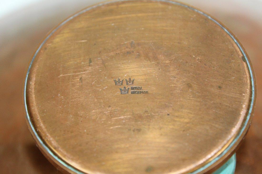 Royal Hickman copper & ceramic  candle holder & vase - 4