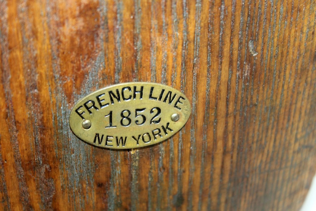 Antique block & tackle French Line New York 1852 - 3
