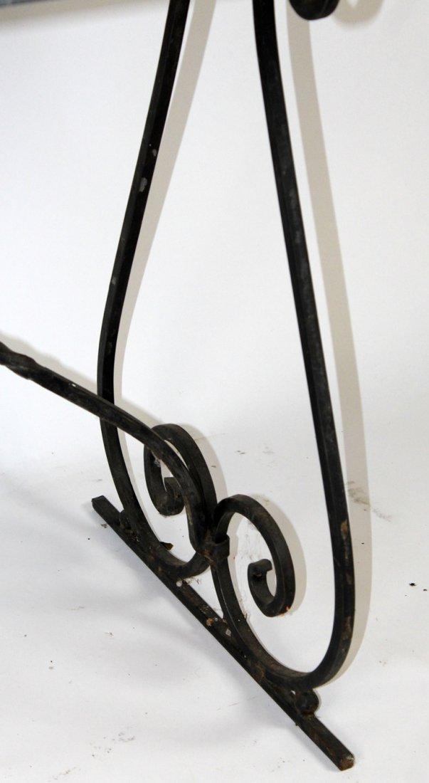 Granite top iron base table - 3