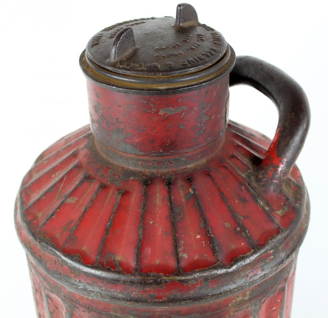Antique American Davis Welding 5 gal oil can - 2