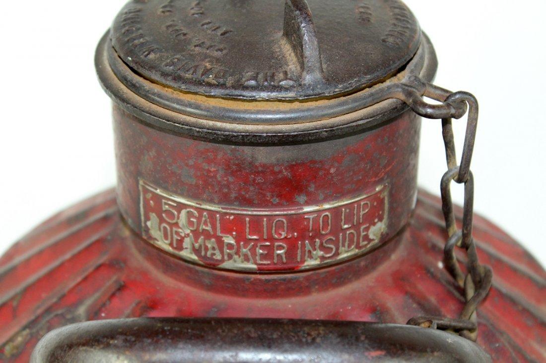 Antique American Davis Welding 5 gal oil can - 4