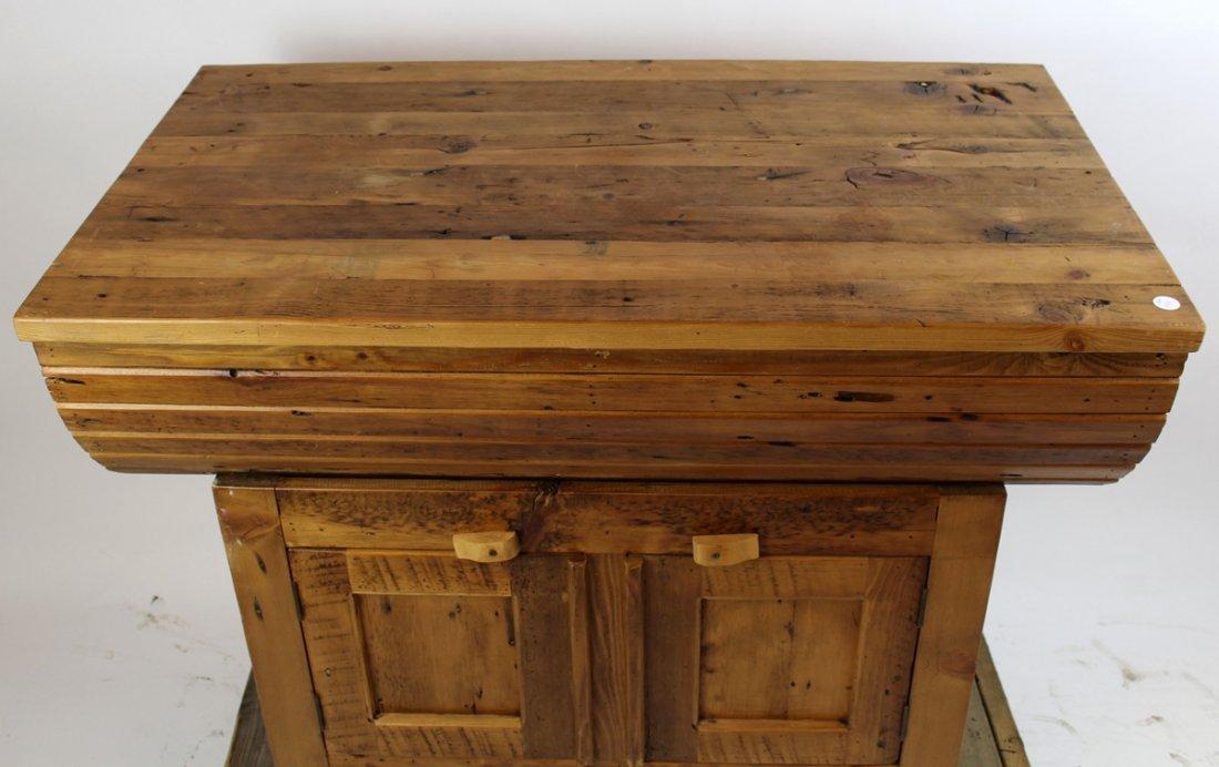 Primitive pine grain bin style console - 2