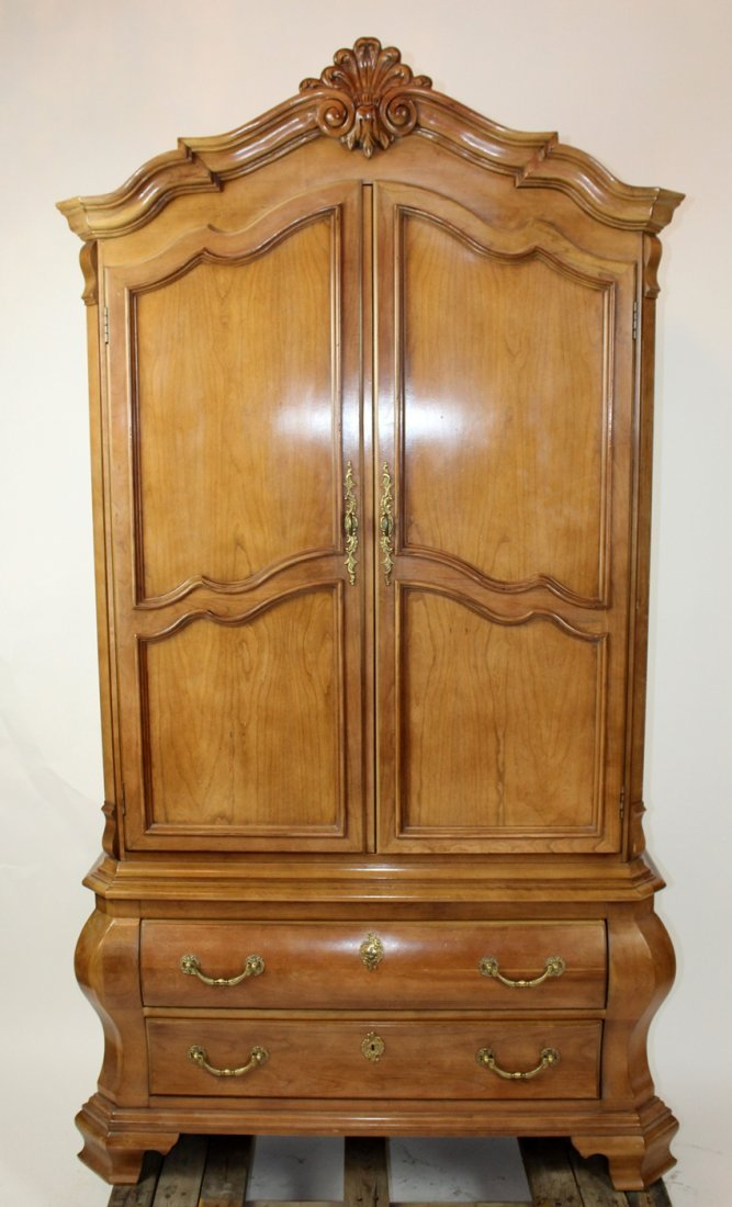 Century Provincial style wardrobe on chest