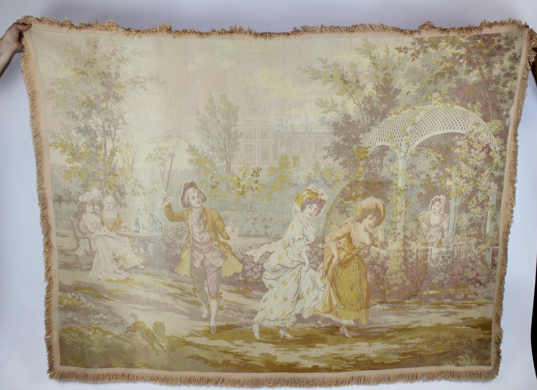 Tapestry after Alonso Perez The Butterfly Catcher