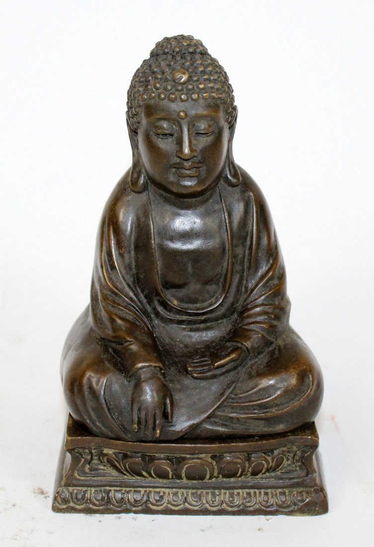 Cold painted bronze Buddha with hidden Buddha