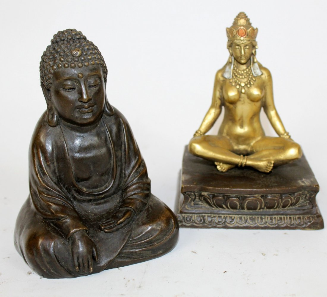Cold painted bronze Buddha with hidden Buddha - 3