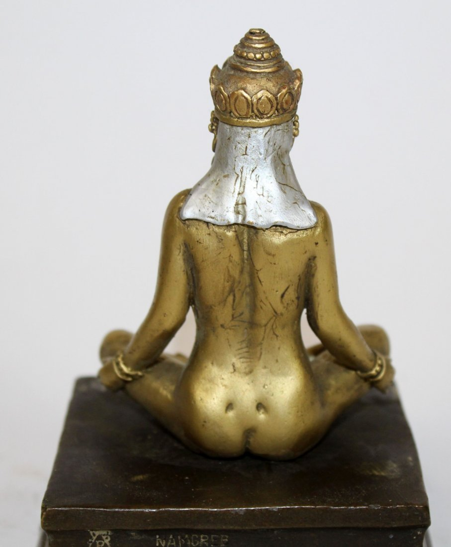 Cold painted bronze Buddha with hidden Buddha - 4