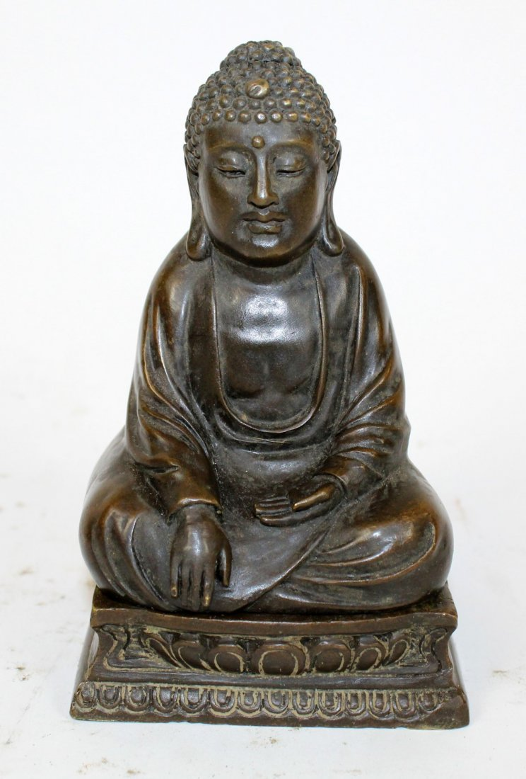 Cold painted bronze Buddha with hidden Buddha - 6