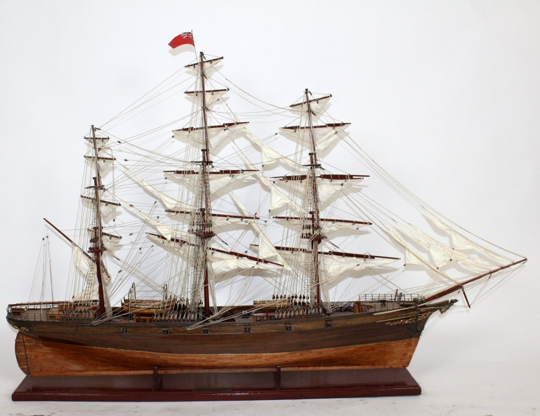 Clipper ship model Cutty Sark England