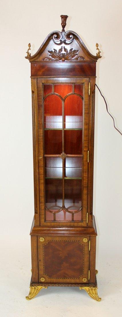 Maitland Smith flame mahogany curio cabinet