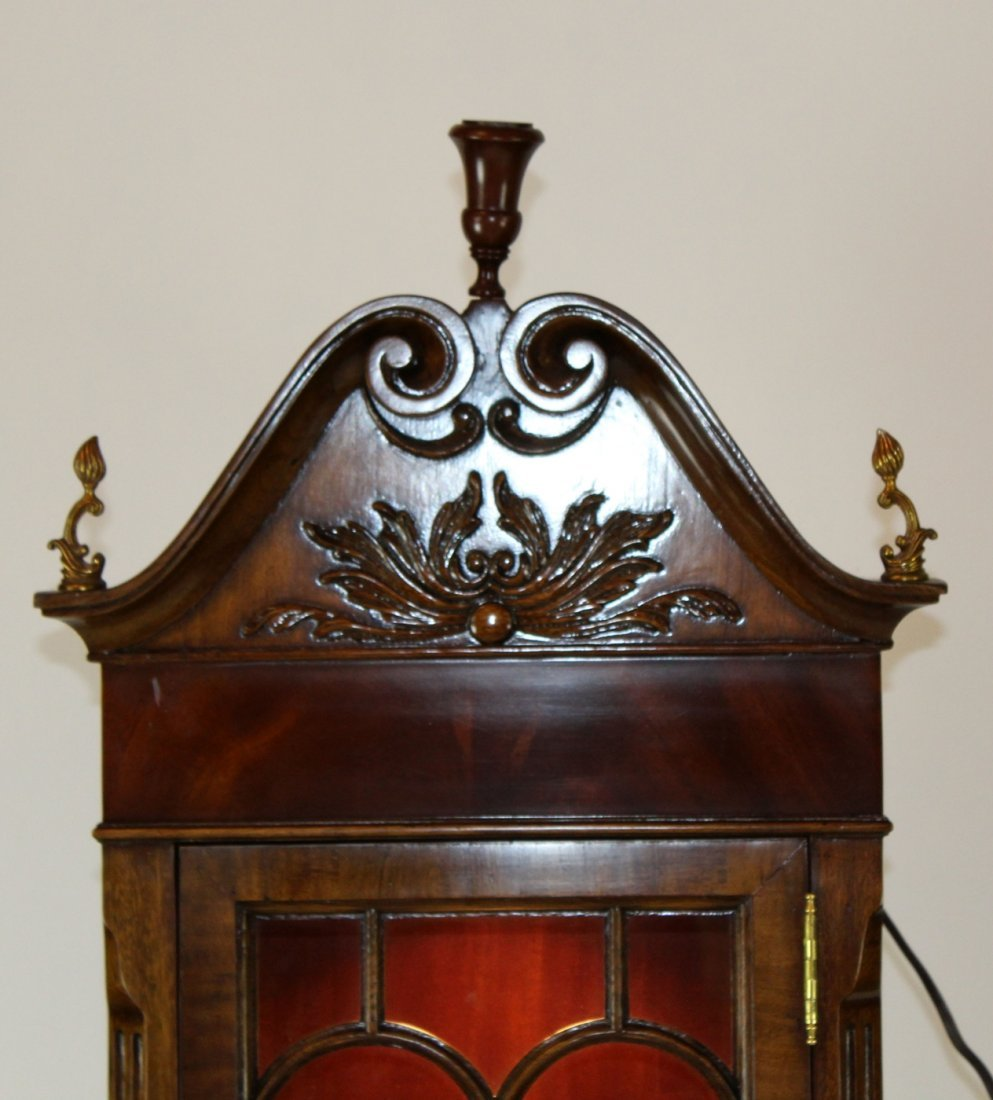 Maitland Smith flame mahogany curio cabinet - 3