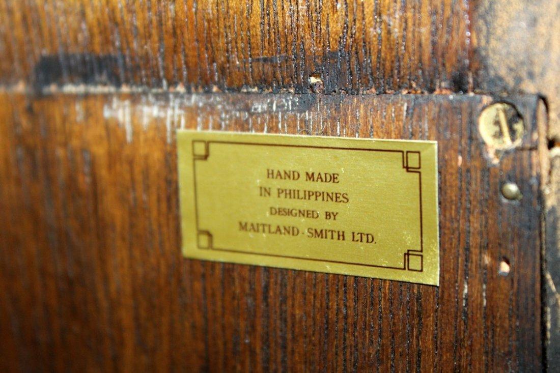 Maitland Smith flame mahogany curio cabinet - 4