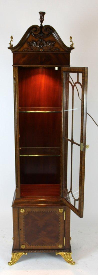 Maitland Smith flame mahogany curio cabinet - 5