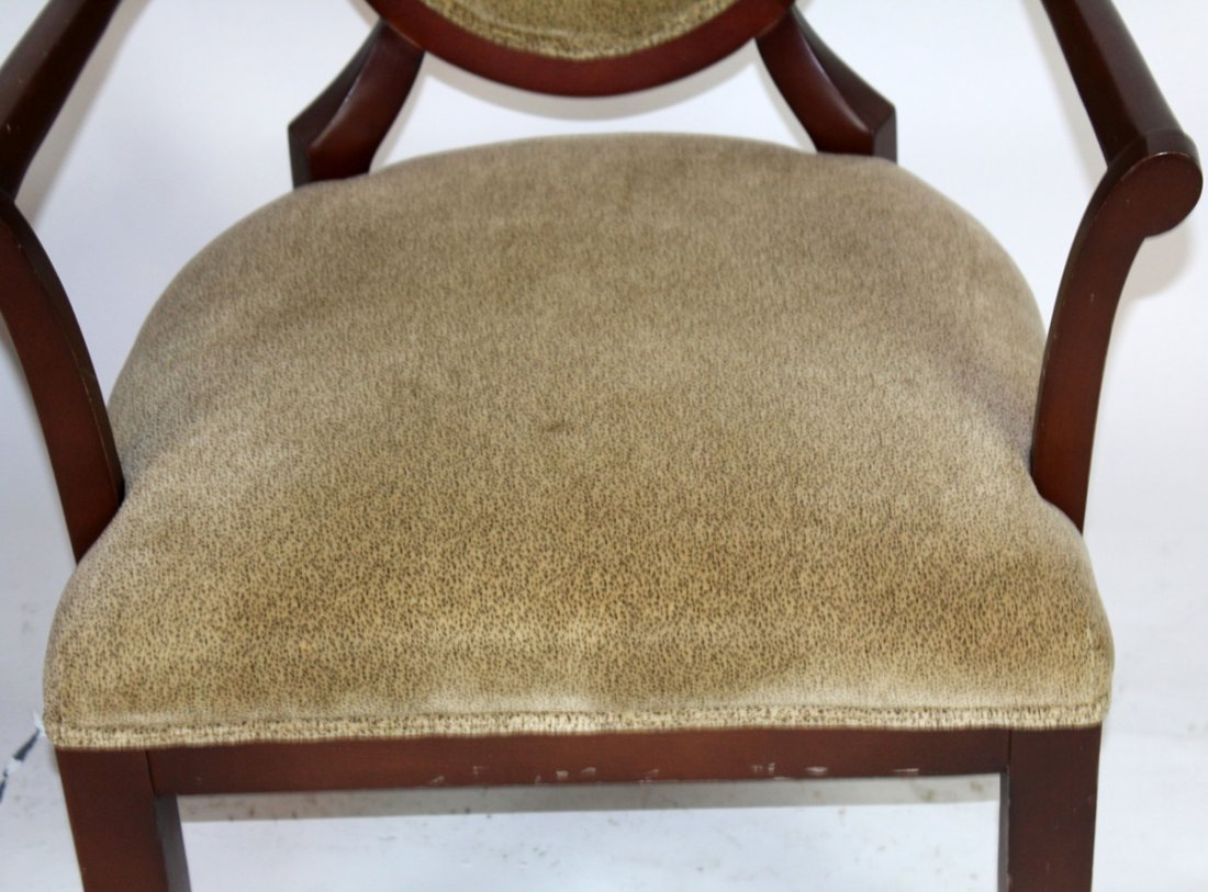Pair of balloon back mahogany armchairs - 2