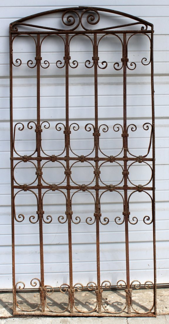 Arch top decorative iron panel